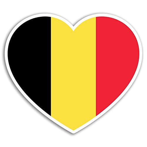 2 x 10 cm belga bandera de Bélgica Diversión pegatinas de vinilo - etiqueta engomada del recorrido del equipaje # 19249 (10 cm de ancho)