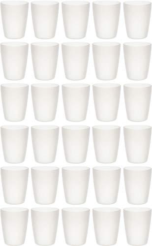 idea-station Neo Vasos plastico 30 Piezas, 250 ml, Transparente, Reutilizable, inastillable, Duro, vajilla, Tazas, Copas, Vaso, niños, Infantiles, de Agua, cóctel, Fiesta