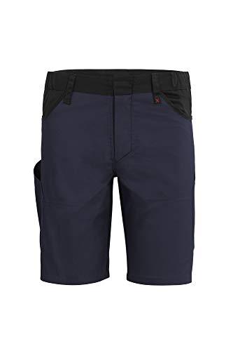 Qualitex X-Serie Unisex Shorts in Marine/schwarz Größe 46, Kurze Arbeitshose für Herren und Damen, Arbeits-Bermuda mit vielen Werkzeugtaschen