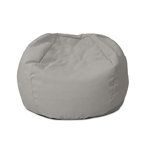 rucomfy Beanbags Indoor Small Kids Bean Bag. Use as Cushion. Recliner Chair or Lounger. Washable Durable & Comfortable 50 x 65cm (Platinum Grey)