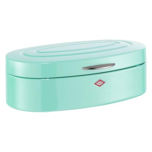 Wesco Bread bin, Stainless Steel, Mint, 26 x 41.5 x 14 cm