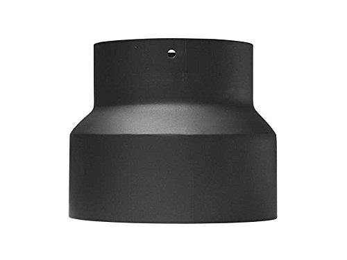 Ofenrohr Reduzierung 200 - 160 mm Schwarz Rohr Rauchrohr Kaminrohr