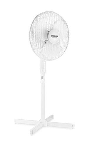 """Stagecaptain SV-160 PolarPower 40cm (16\"""") Standventilator -Ventilator mit höhenverstellbarem Standfuß bis 120cm - Büroventilator mit 3 Stufen und 45W - 60° neigbar - Oszillationsfunktion - Weiß"""