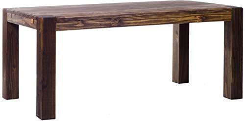 Brasilmöbel Esstisch Rio Kanto 200x100x78 cm Eiche antik - Holz Tisch Pinie Esszimmertisch Küchentisch - vorgerichtet für Ansteckplatten - ausziehbar