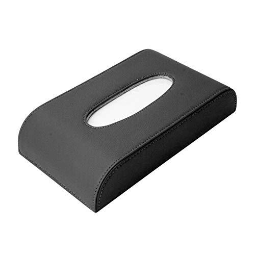 TKTK Auto Accessoires Universele PU Lederen Home Office Hotel Auto Facial Tissue Box Case Zwart