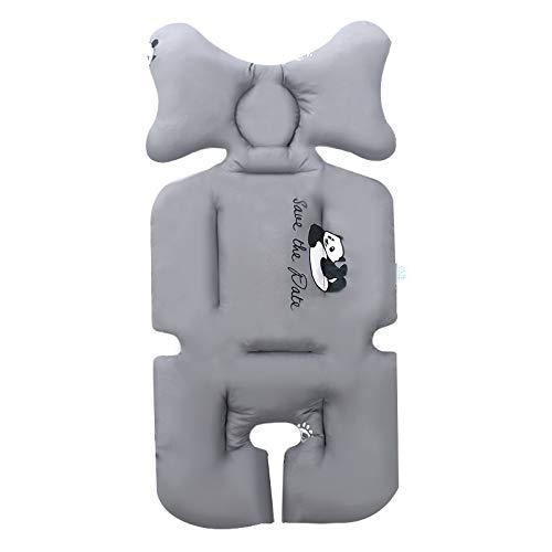 Eyand bébé Tête Corps de soutien poussette Coussin - Coussin voiture confortable siège Insertion, Poussette bébé Liners de sécurité Créer un soutien pour Tiny Baby In Car Seat(Panda)