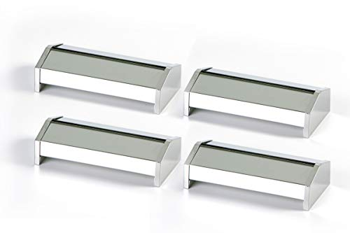 Hostelnovo - Set de 4 servilleteros Zig-Zag - 100% Acero