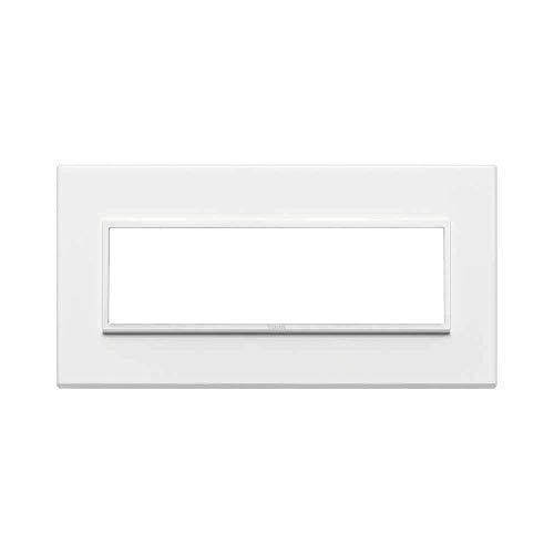 Vimar Serie Eikon Evo–Placca 7Moduli Alluminio Serie Eikon Bianco Total