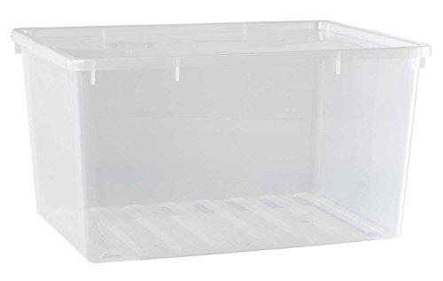 Kunststoffbox Aufbewahrungsbox Stapelbox | Kunststoff | Transparent | Stapelbar | 130 Liter