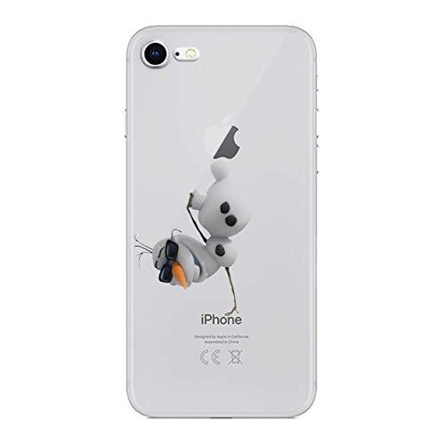 I-CHOOSE LIMITED Cartone Animato Custodie Cover del Telefono per Apple iPhone 6 Plus/6s Plus (5.5') con Protezione per Lo Schermo/Gel/TPU/Olaf