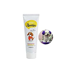 Baost 80g Pet Hair Dye Cream Dog Cat Animals Semi Permanant Non-Toxic Pet Grooming Hair Coloring Dyes Pigment Agent