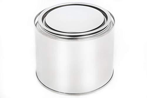 Blechdose mit Deckel Weißblech-dose Leerdose Lackdosen Metallbehälter Dosen Autolack Farbe, Anzahl:1, Größe:0.5 L