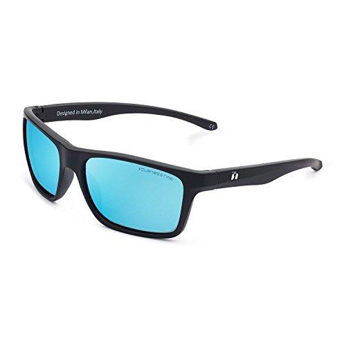 CLANDESTINE Square Matte Black Blue N - Gafas de sol Nylon HD Hombre & Mujer