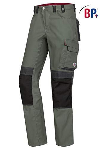 BP Arbeitshose für Männer, Höhere Taille am Rücken, 225,00 g/m² Stoffmischung mit Stretch, oliv/schwarz,56l