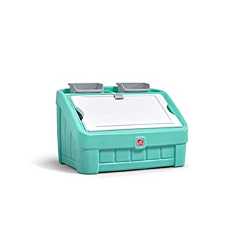 Step2 2-in-1 Toy Box & Art Lid   Plastic Toy & Art Storage Container Mint