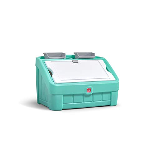 Step2 2-in-1 Toy Box & Art Lid | Plastic Toy & Art Storage Container, Mint