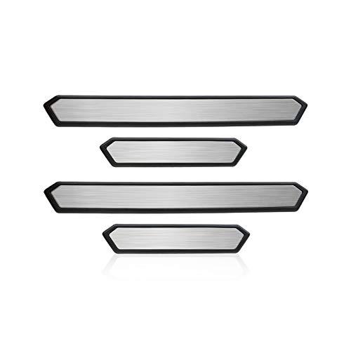 YEE PIN Protezione Battitacco per Toyot a RAV4 2019, Acciaio Inossidabile Batticalcagno, Pedale Soglia Ricambi Auto (Argento)