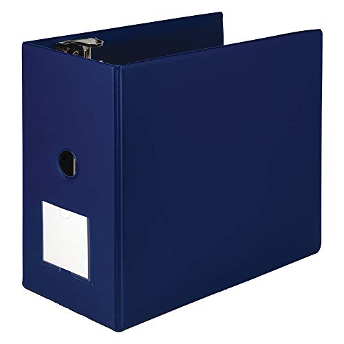 Samsill Heavyweight Reference Ring Binder, 3 Ring Binder with Label Holder for Home or Office, 6 Inch Locking D-Rings - Holds 1225 Sheet, Blue