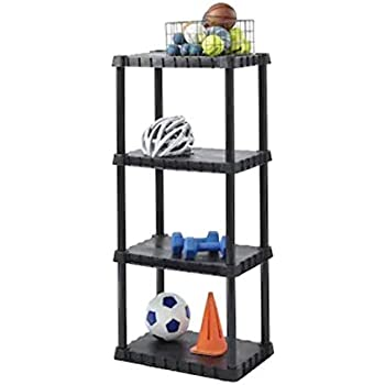 Amazon Com Blue Hawk 48 In H X 22 In W X 14 25 In D 5 Tier Plastic Freestanding Shelving Unit Kitchen Dining
