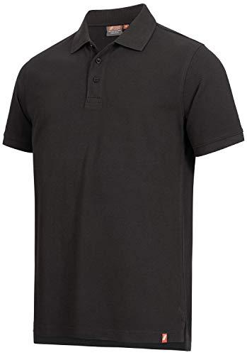 Nitras Motion TEX Light Polo-Shirt - Männer-Hemd für die Arbeit - Schwarz - L