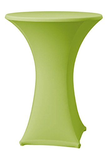 event-textil-markt Stretch Stehtischhusse 60 cm, 80 cm Husse Stehtisch Bistrotisch (grün 60)