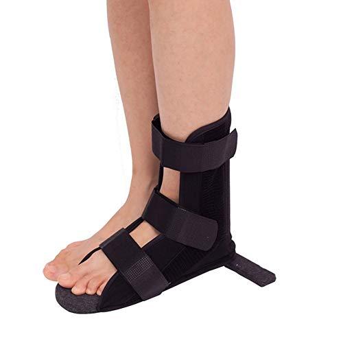 Orthopädischer Schuh Patientenschuh Gipsschuhe für Männer Damen, Stoßdämpfung Atmungsaktiv rutschfest von Frakturen Verstauchungen Knochenbrüchen,Schwarz,S