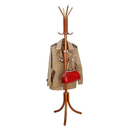 Perchero Perchero Ganchos para Trabajo Pesado Perchero con 12 Ganchos Chaqueta Soporte para árbol Base Entrada de Metal Perchero de pie (Alto: 175 cm) (Color: Naranja)