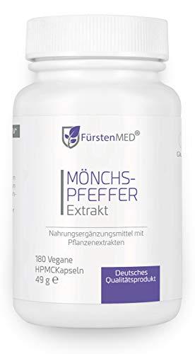 FürstenMED Mönchspfeffer Kapseln mit Extrakt 5:1 - Echter Vitex Agnus Castus - 180 Vegane Kapseln...