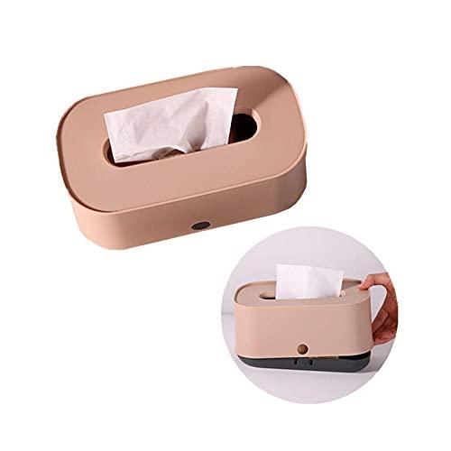 dispensador de toallitas cosméticas caja de pañuelos caja de pañuelos rectángulo cubierto caja de pañuelos caja de pañuelos cubo cubierto soporte de caja de pañuelos rosa