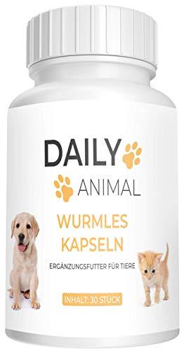 PowerSupps Daily Animal WURMLES Kapseln für Katzen und Hunde - vor, während und nach Befall – natürliches Mittel für Magen und Darm - Kur