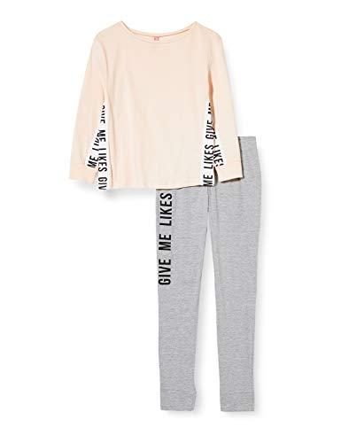 Lina Pink EF.Like.pl Juego de Pijama, Gris/Noir, 10 ANS para Niñas
