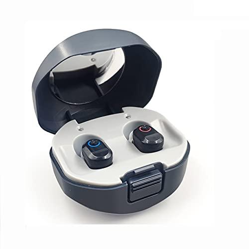RONGXI Haushalts-Gesundheitspflege-Kit, Digital Hörgeräte Wiederaufladbare Digitale Hörgeräte mit Ladekoffer Hörgerät Hörverstärker for ältere Menschen (Color : Black)