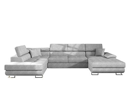 Mirjan24 Ecksofa Cotere Bis, Eckcouch, Sofa mit Schlaffunktion und Bettkasten, U-Form Couch Farbauswahl Wohnlandschaft vom Hersteller (Alfa 17, Seite: Links)