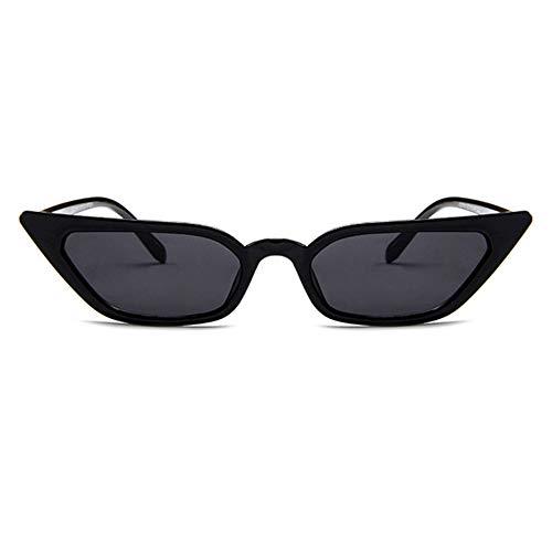 Tree-es-Life Gafas de Sol de Montura pequeña Gafas de Sol Retro de Moda Gafas de gelatina de Personalidad Gafas de Sol de Ojo de Gato de Moda Negro-Gris
