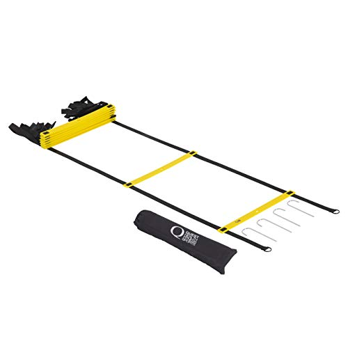 Extra Long, Agility Ladder (23 feet - 14 Rung), Premium Quality, Speed Training Equipment for Teams, Athletes, Individuals and Kids, Adjustable with Carry Bag. Maximize Agility, Speed, Quickness