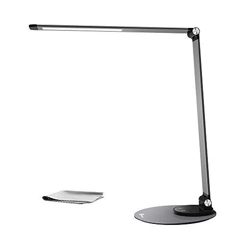 Lámpara de escritorio LED TaoTronics (ultra-delgada, aluminio aleado, protección a la vista,...