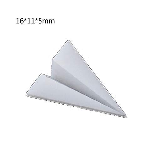 Nikunty modelado de materiales de la resina del molde del relleno del paisaje 5pcs del arte mini hoja del jet en papel en la grúa