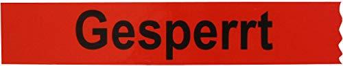 1 Rolle Klebeband Gesperrt 25 mm x 66 lfm Absperrband Paketband Packband Warnband Hinweisklebeband