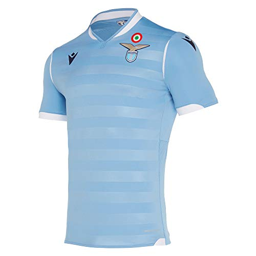 Macron Fanartikel SS Lazio Rom · SSL Serie A Trikot Home 19-20 · Bekleidung Oberteil Hemd Jersey Shirt Heim Heimtrikot · Unisex Damen Herren Frauen Männer · Saison 2019-2020, Erwachsene, Größe XXL