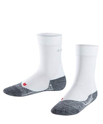 FALKE Unisex Kinder Laufsocken RU4, Baumwolle, 1 Paar, Weiß (White-Mix 2020), 31-34 (7-9 Jahre)