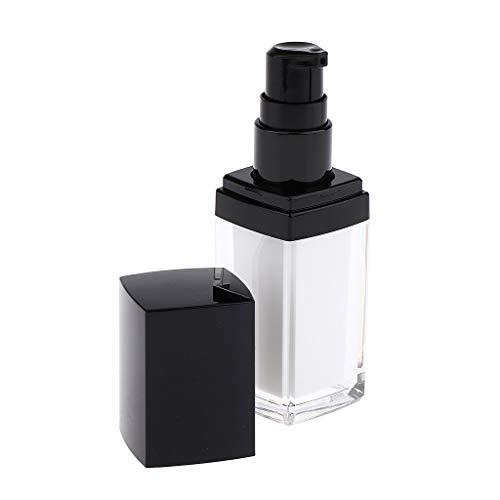 perfeclan Bouteilles Vides De Lotion Acrylique Récipient de Cosmétique Rechargeable et Couvercle - 15ml