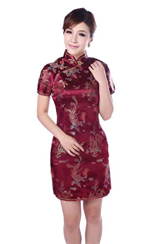 Vestido De Fiesta Las Las De Señoras De Mujeres Mode De Marca De La Vendimia Estilo ETNO Cheongsam Qipao Vestido De Noche...