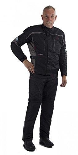 Motowear Motorradkombi P2 Textil - wasserdicht, atmungsaktiv schwarz M