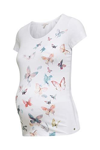 ESPRIT Maternity Damen ss Umstands-T-Shirt, Weiß (White 100), 36 (Herstellergröße: S)