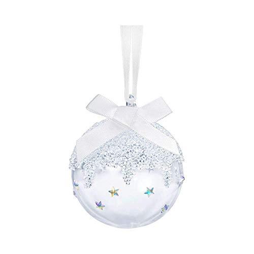 Swarovski 7,2 - Pallina di Natale con Decorazioni in Cristallo, Colore: Bianco