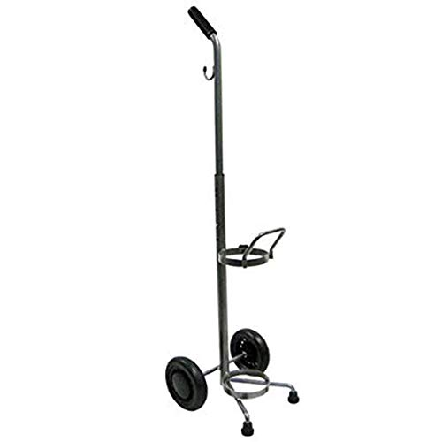 """The Aftermarket Group Oxygen Cylinder Cart, Silver Vein Finish, 10"""" W x 10"""" D x 38"""" H, Package of 6, TAG305014-PK"""