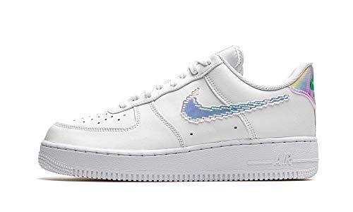 Nike Air Force 1 '07 LV8, Scarpe da Basket Uomo, White/Multi-Color-Black, 44.5 EU