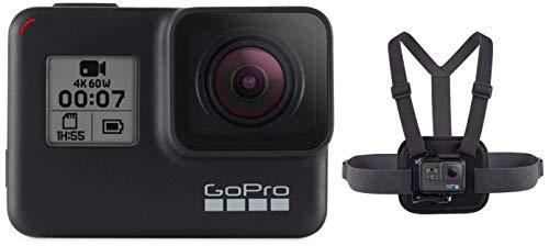 Chesty V2 - Fixation de poitrine pour laction & GoPro HERO7 Black - Caméra numérique embarquée étanche avec écran tactilestabilisation intégrée