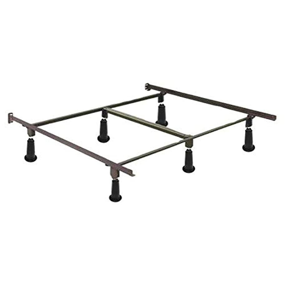 Swag Pads California King Size High Rise Metal Bed Frame with Headboard Brackets