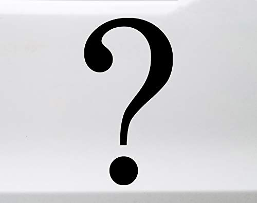 Minglewood Trading Black - Question Mark Vinyl Decal - Punctuation - Die Cut Sticker - 2.75w x 5h inches